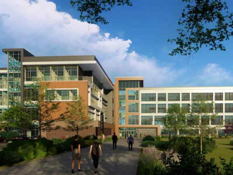 Woolsey Hall business school rendering