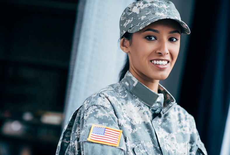 female USA soldier