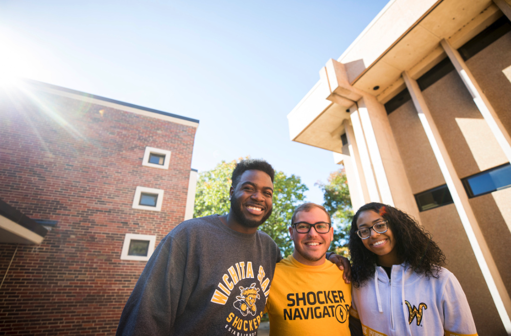 WSU smiling students on campus