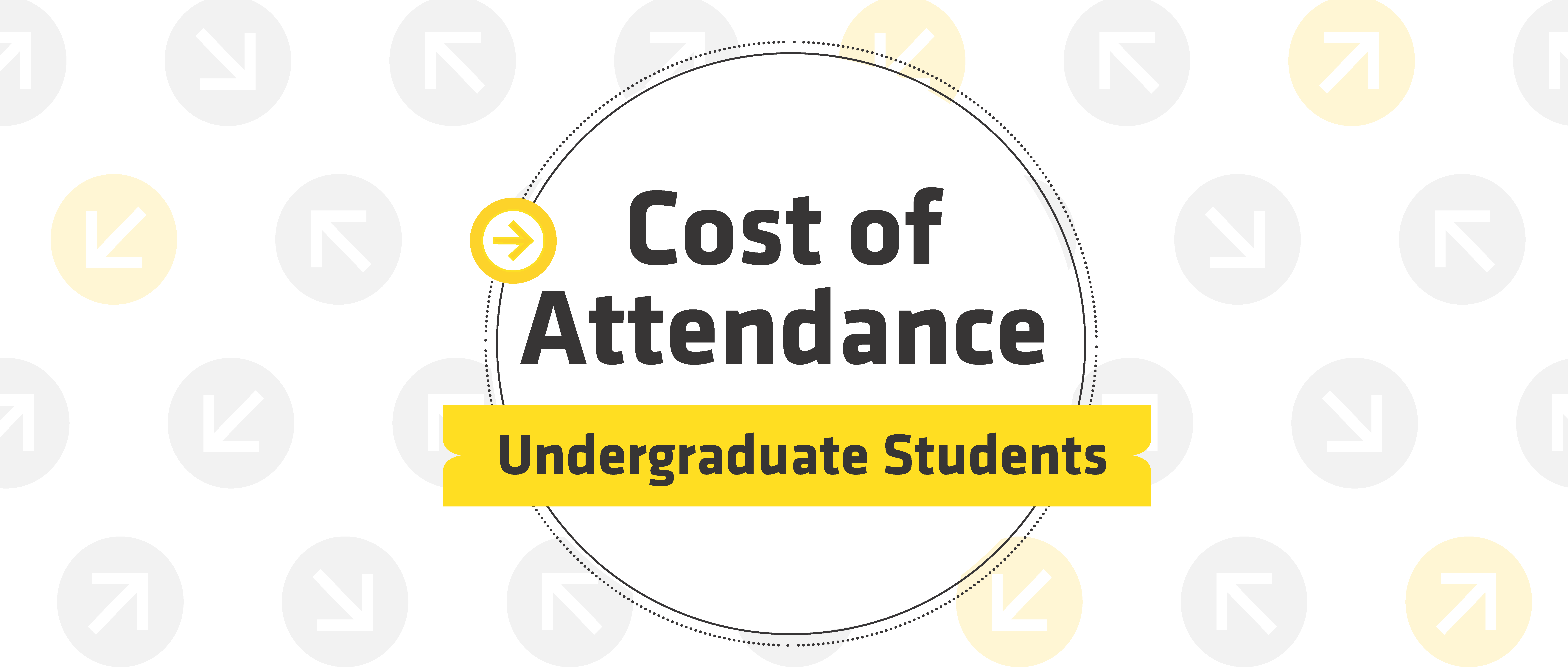 Cost of Attendance - Undergraduate Students with circles and arrows