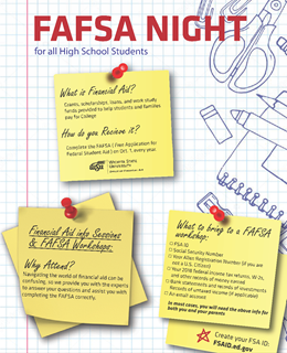 High School Financial Aid Night flyer