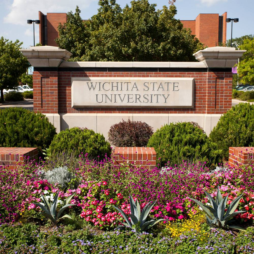 Southeast entrance to Wichita State University
