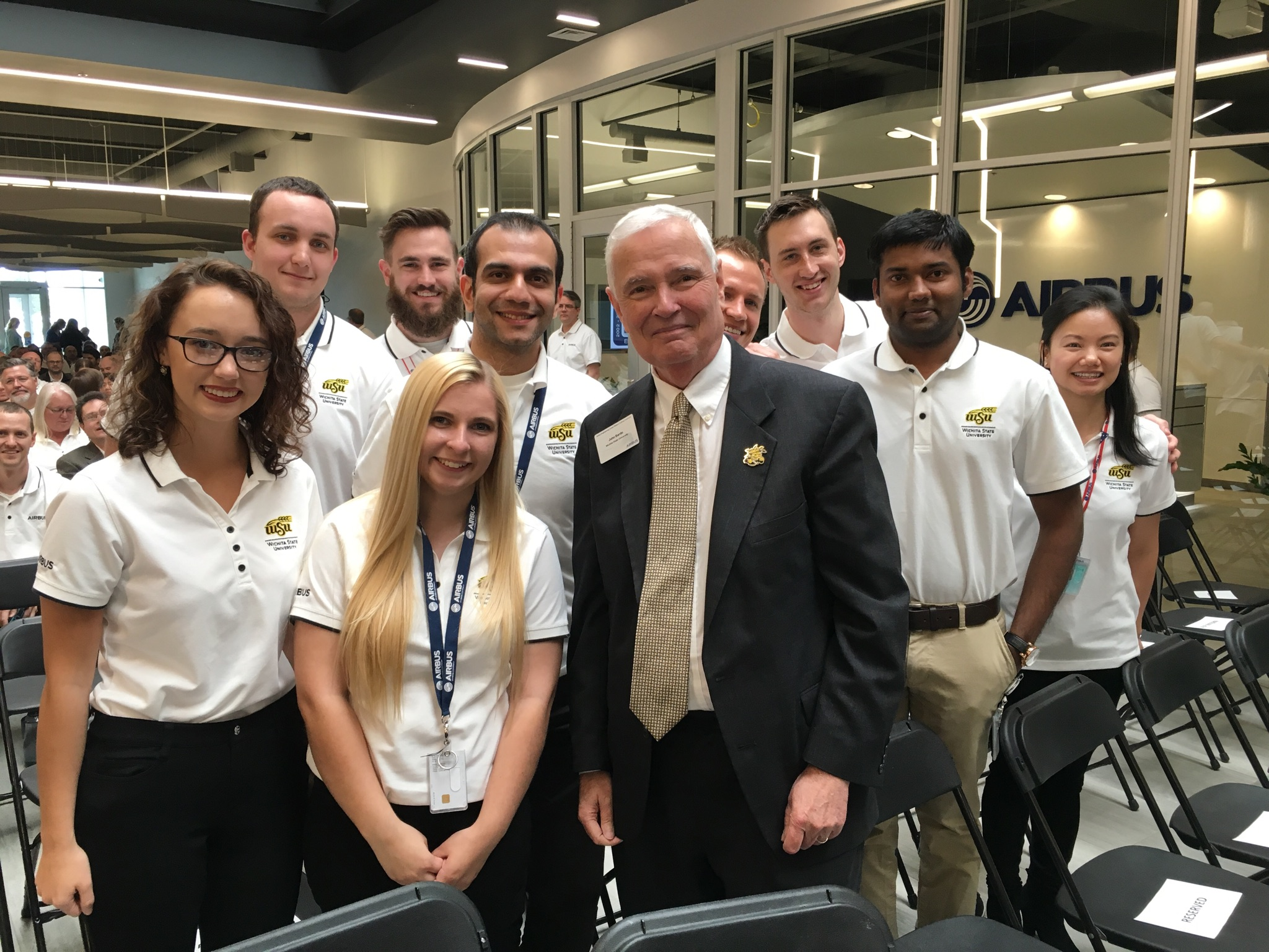 President Bardo and students