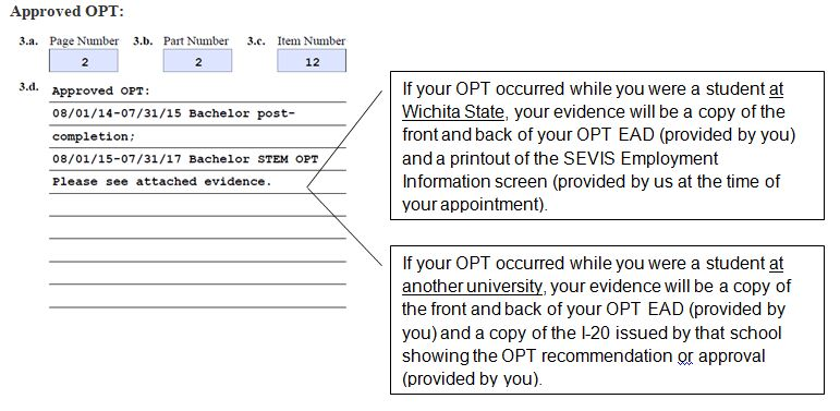 Documentation for OPT Appointment