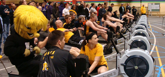 WuShock rowing at the 2012 Shocker Sprints