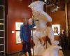 Connie Ernatt working on a Bronze sculpture of Wu Shock.