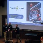 A team presenting at the finals.