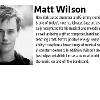 A photo and bio of matt wilson