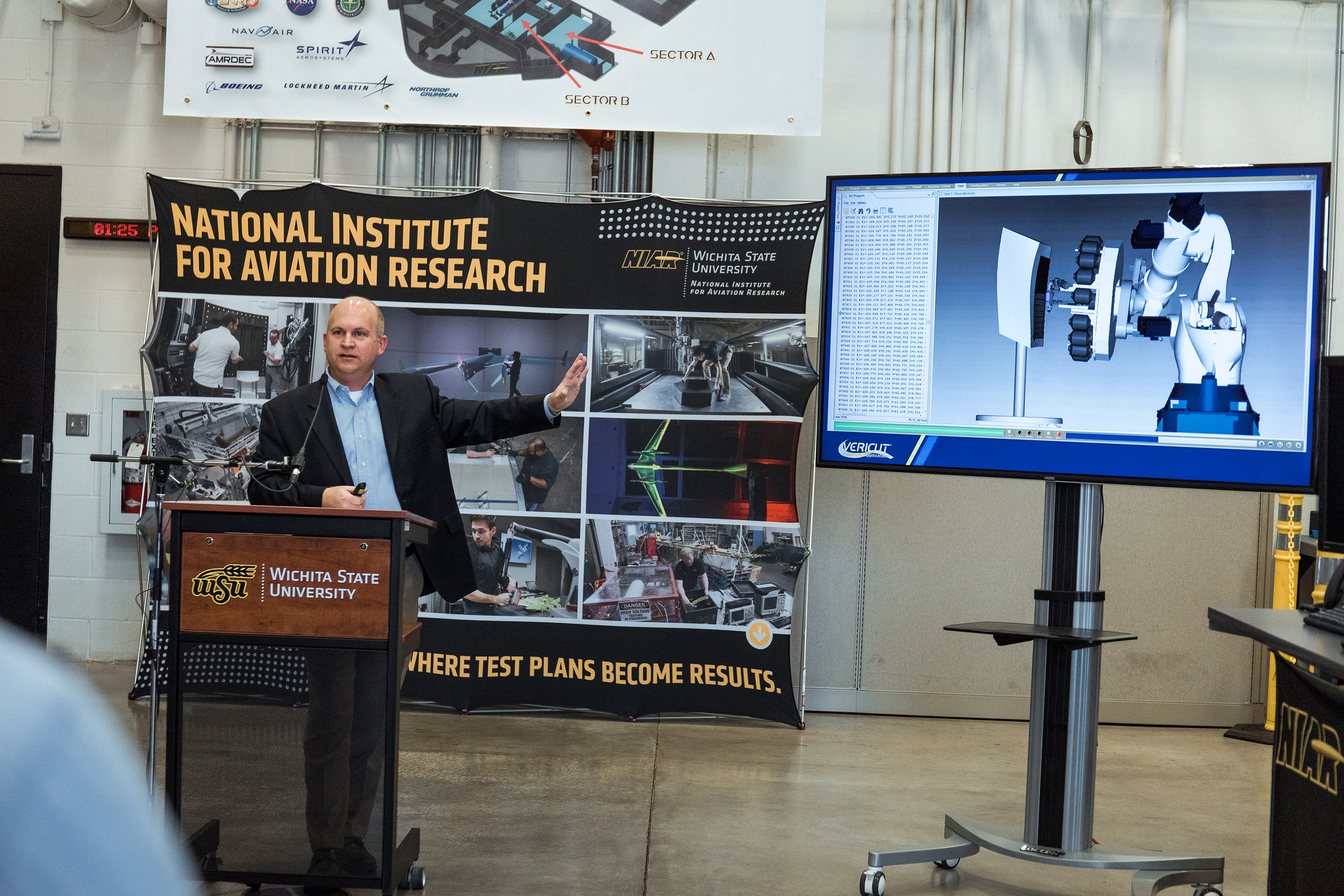 John Tomblin discusses the $2 million grant awarded to Wichita State to fund advanced composites technology.