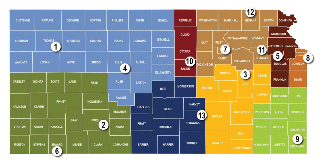 Kansas SBDC State Network Map