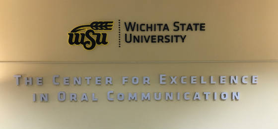 Center for Excellence in Oral Communication wall signage