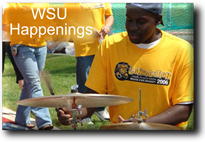 WSU Happenings Button