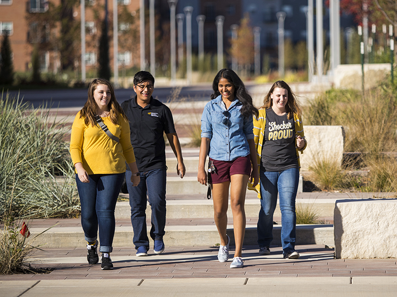 Students walking on the Innovation Campus