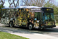 WSU campus shuttle bus