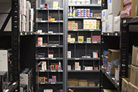 Supply Services inventory shelves