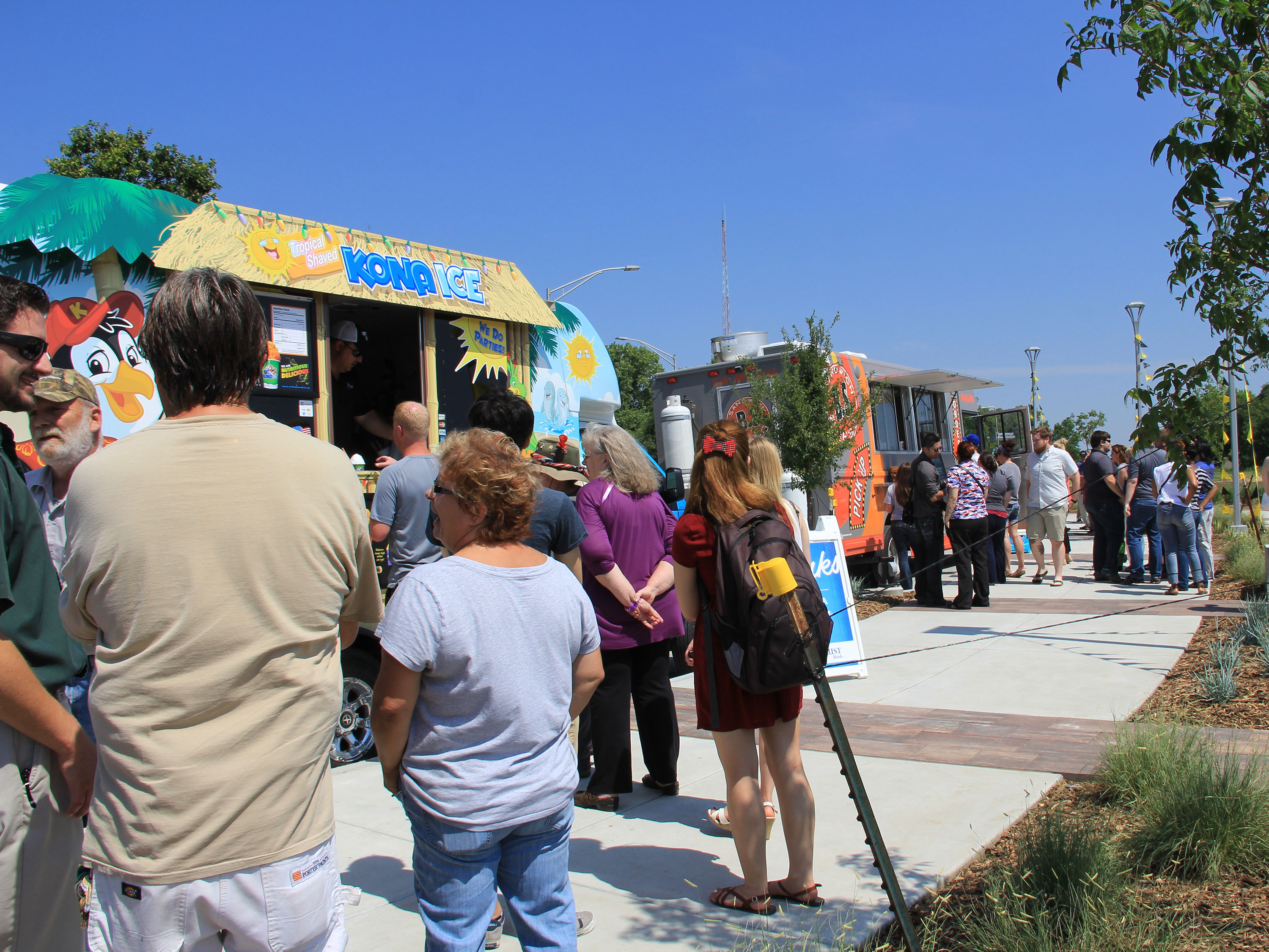 Food Truck Plaza patrons on opening day