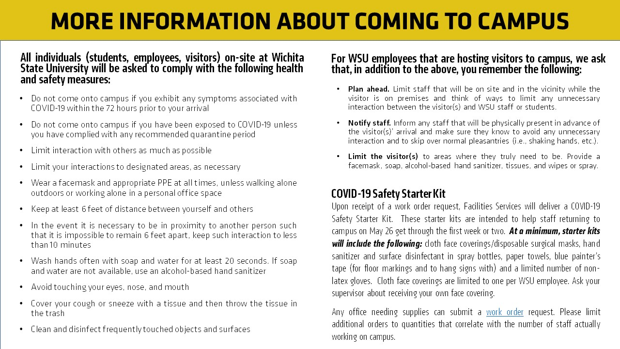 Page 2 What You Need to Know About Coming to Campus
