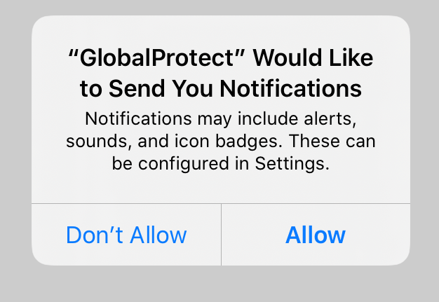 Allow Notifications