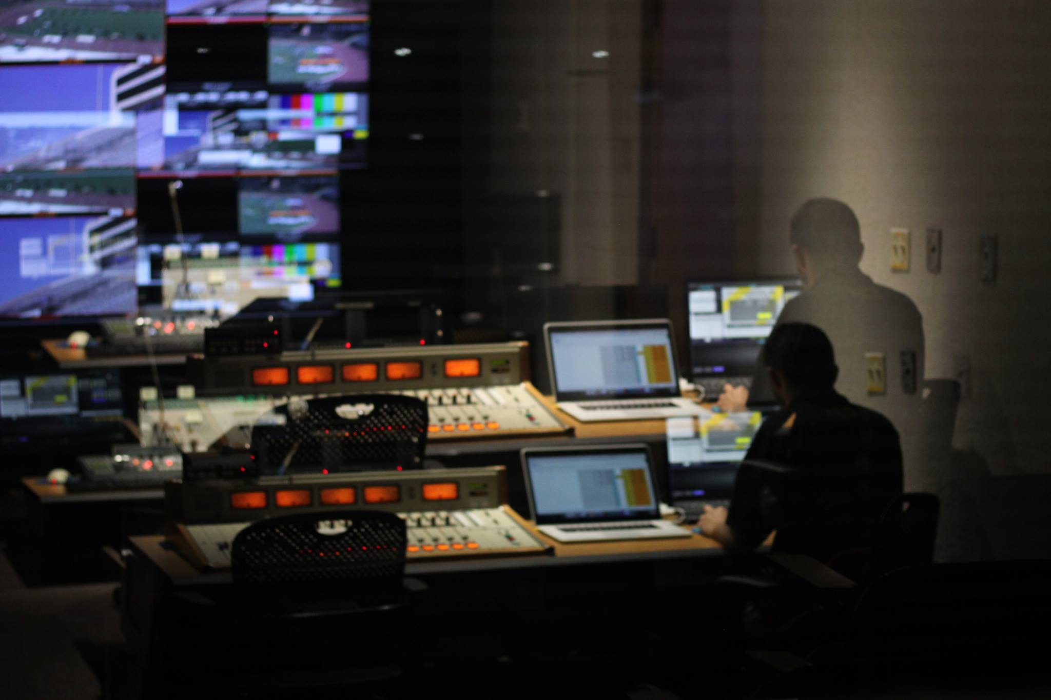 The WSU TV Studio control room