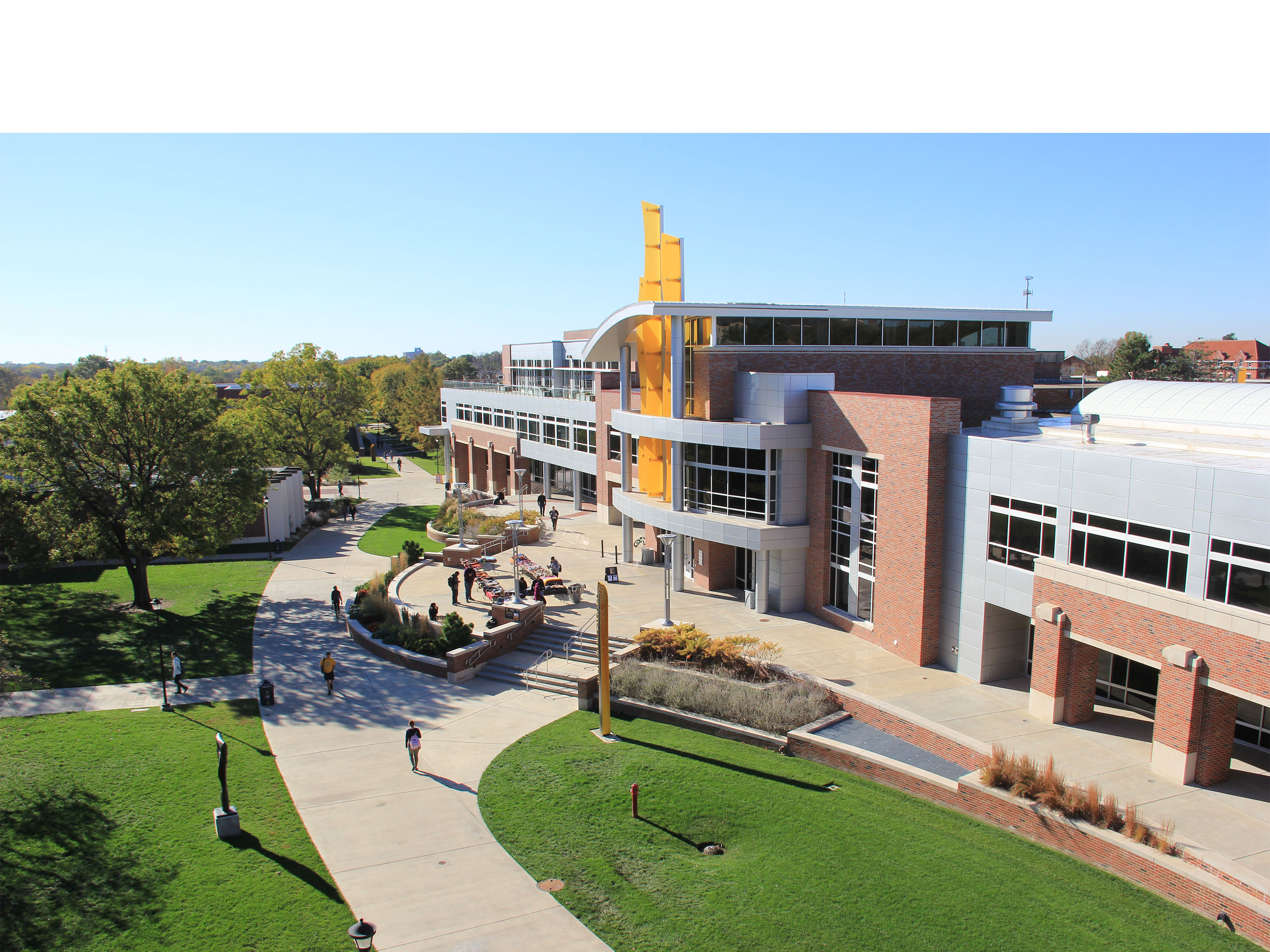 A view of the Rhatigan Student Center at Wichita State University.