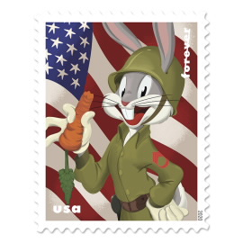 image of bugs bunny postage stamp