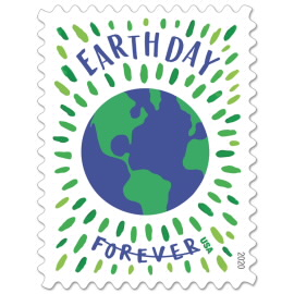 image of earth day postage stamp