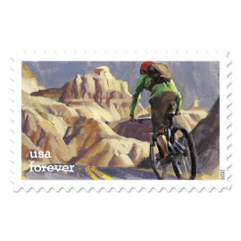 image of enjoy the great outdoors postage stamp