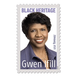 image of Gwen Ifill postage stamp