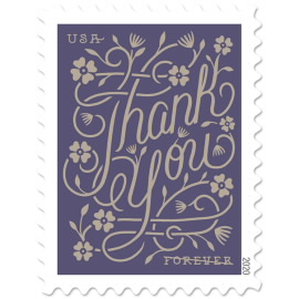 image of Thank You postage stamp