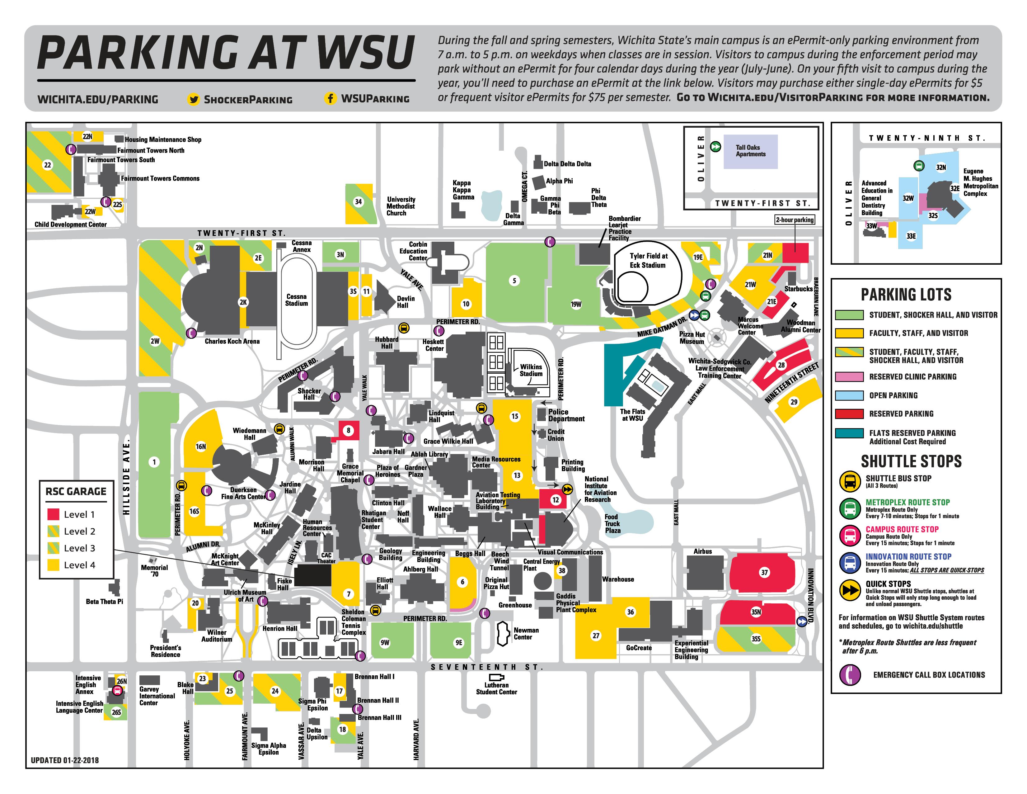 Wichita State University Map Directions