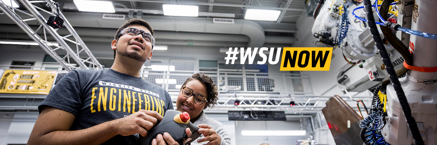 WSUNOW: Students working in NIAR robotics lab.