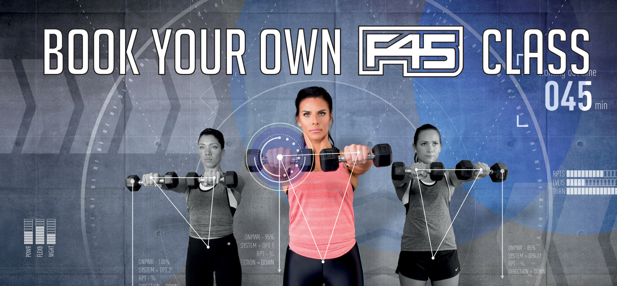 Book your own F45 class promo image