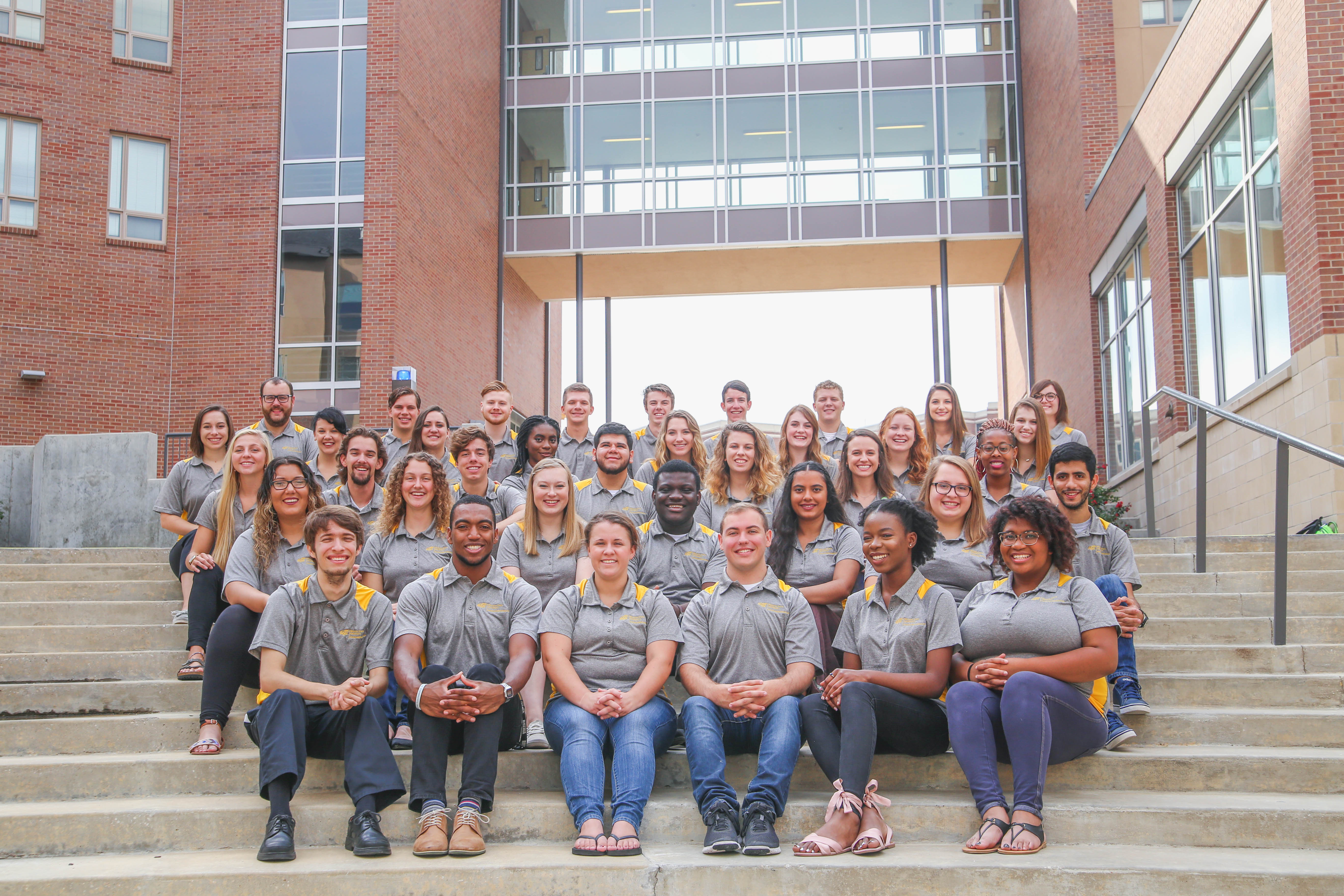 ResLife student staff group photo
